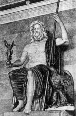 Древнегреческая скульптура статуя зевса олимпийского