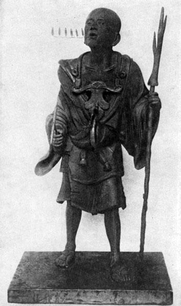 скульптура священника Куя при храме Рокухарамицудзи
