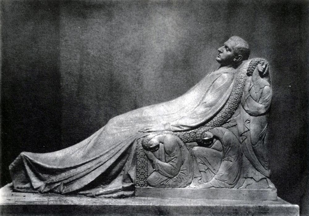 Н. А. Андреев. Модель статуи Н. Л. Тарасова для его надгробия. Около 1911. Гипс. Не сохранилась